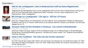 "Die sogenannten ""Snippets"" (Quelle: www.news.google.de)"