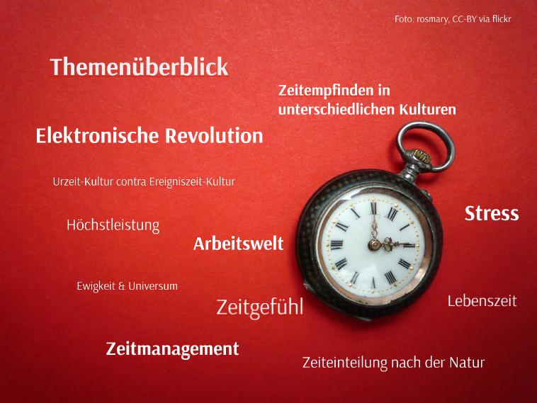 Facetten des Themas Zeit, wie sie in GEOkompakt Nr.27 und Der Spiegel Wissen Nr.4 aufgegriffen wurden: Foto: rosmary, CC-BY via flickr