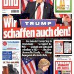 """Die BILD-Zeitung verkündet einen Tag nach der US-Wahl nach Merkel-Manier ganz optimistisch, dass Donald Trump für Deutschland kein Problem darstellen wird. Gleich darunter wird Barack Obama zum """"Gewinner des Tages"""" gekürt. Ob er das nach Trumps Sieg auch so sieht, ist jedoch fraglich."""