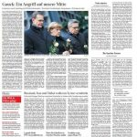 Die Frankfurter Allgemeine Zeitung titelt mit einem Zitat von Bundespräsident Gauck. Auch er weiß: Das schreckliche Attentat betrifft uns alle gleichermaßen.