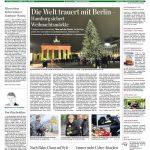 Das Hamburger Abendblatt zeigt die regionalen Auswirkungen des Anschlags. Doch nicht nur auf Hamburger Weihnachtsmärkten ist nun mit erhöhtem Polizeiaufkommen zu rechnen. In ganz Deutschland werden die Sicherheitsmaßnahmen verstärkt.