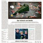 Die Süddeutsche zeigt die Stelle des Attentats und den umgestürzten Weihnachtsbaum, der für viele fast schon zum Symbolbild geworden ist.