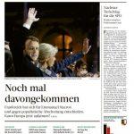 Die Frankfurter Rundschau ist genauso erleichtert wie ihre Kollegen von der taz. Für sie ist die Wahl gerade noch einmal gut ausgegangen.