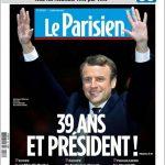 Für den Parisien scheint das noch junge Alter des Siegers eine große Rolle zu spielen. Es wird noch vor seinem Titel als Präsident erwähnt.