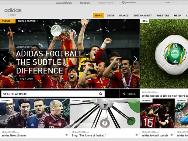 Corporate Website, Adidas