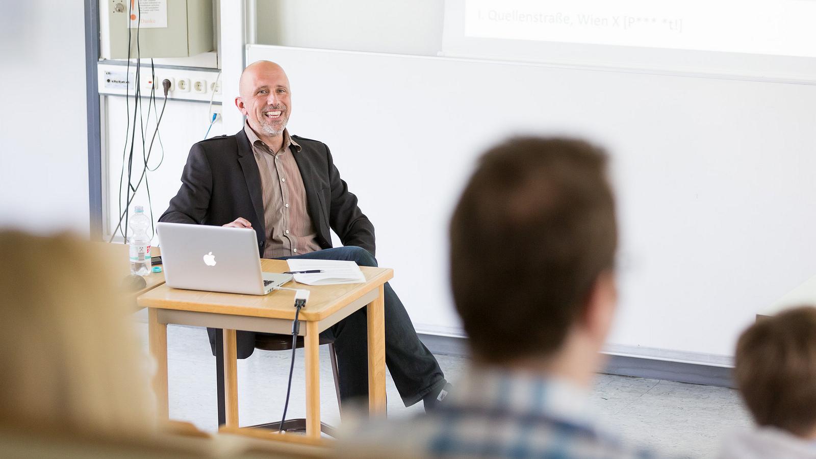 Thomas Wolkinger auf dem ScienceWednesday am Mediencampus der Hochschule Darmstadt